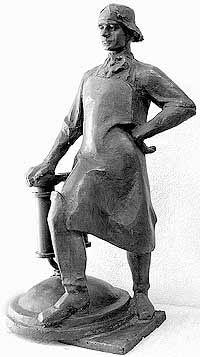 Скульптура И.И. Ползунова работы Прокопия Щетинина