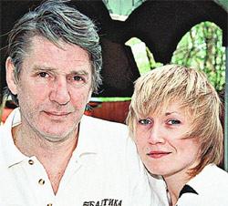 Александр Абдулов с журналисткой Ларисой Штейман