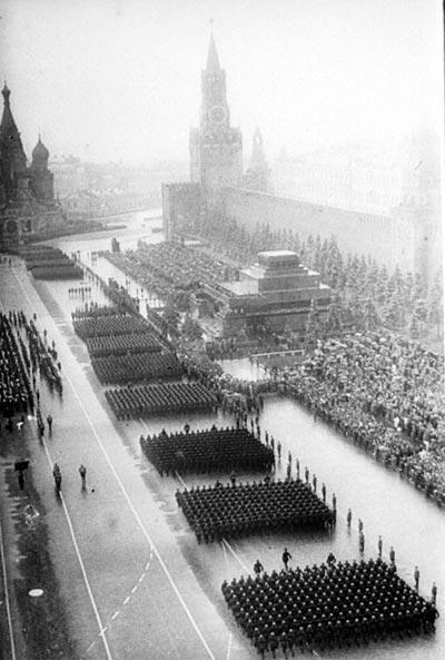 Общий вид Парада Победы 24 июня 1945 г