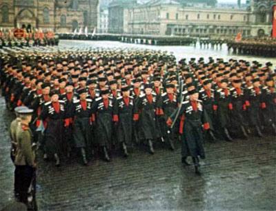 Кубанские казаки на Параде Победы в Москве, 24 июня 1945