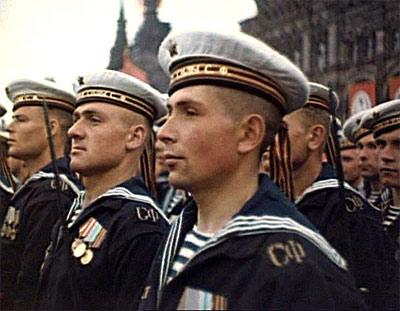 Моряки на Параде Победы в Москве, 24 июня 1945