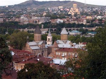 Вид на центральную часть Тбилиси. 2005 г.