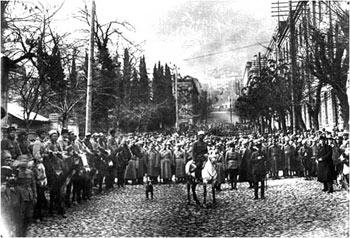 Красная Армия в Тбилиси. 1921