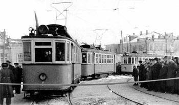 Первый трамвай в Барнауле