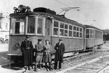 1949г. первый Ленинградский трамвай в Барнауле
