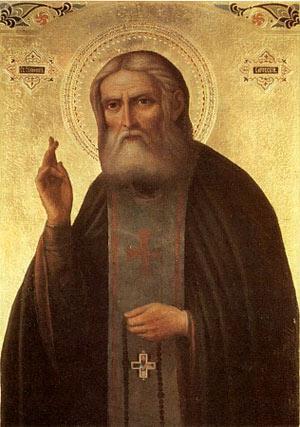 Преподобный Серафим Саровский. Икона начала XX века.