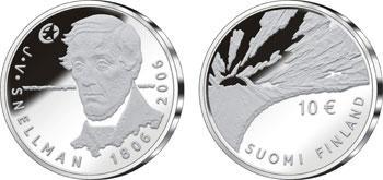 Юбилейные серебряные монеты достоинством в 10 euro к 200-летнему юбилею Снеллмана
