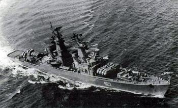 Ракетный крейсер 'Варяг'. Краснознаменный Тихоокеанский флот, 1970 г.