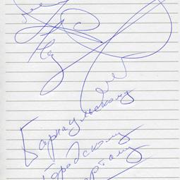 Автографы группы