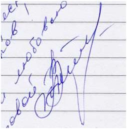 Автограф Татьяны Котовой Барнаульскому городскому порталу