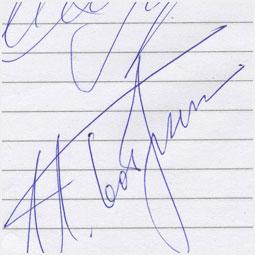 Автограф Ирины Слуцкой и Игоря Бобрина Барнаульскому городскому порталу