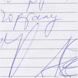 Автограф Ани Герасимовой (Умки) Барнаульскому городскому порталу
