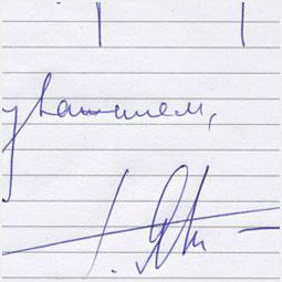 Автограф Григория Явлинского Барнаульскому городскому порталу