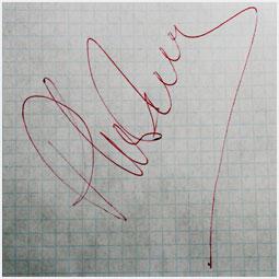 Автограф Евгения Плющенко Барнаульскому городскому порталу