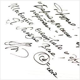 Автограф Аниты Цой