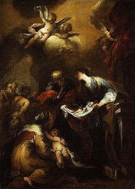 На картине художника Валерио Кастелло (1624 — 1659) «Чудо святой Зиты»