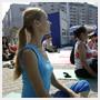 В «Парке на Лазурной» состоялось первое занятие по йоге